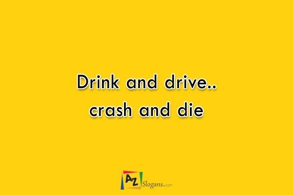 Drink and drive.. crash and die