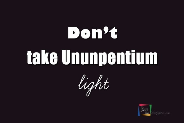 Don't take Ununpentium light