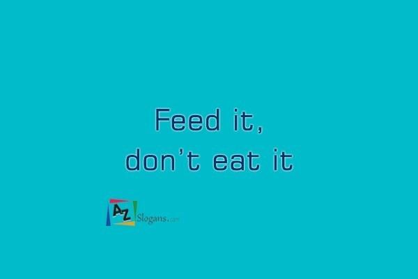 Feed it, don't eat it