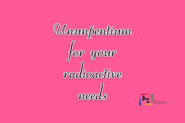 Ununpentium for your radioactive needs