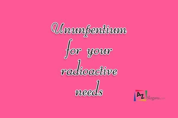 Ununpentium for your radioactive needs
