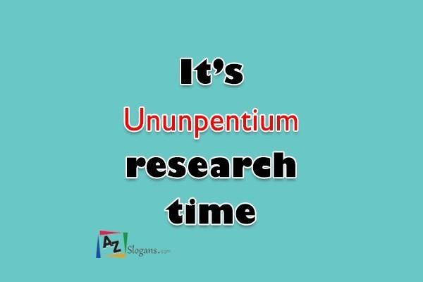 It's Ununpentium research time