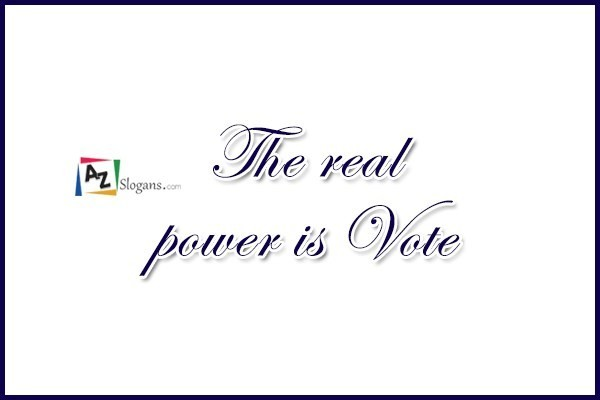 The real power is Vote