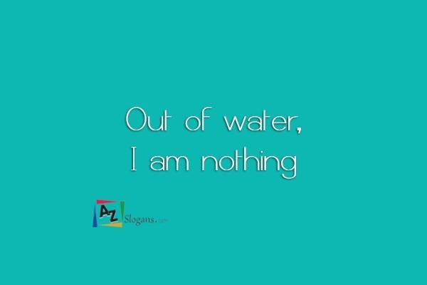 Out of water, I am nothing