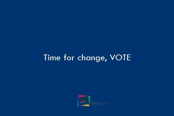 Time for change, VOTE