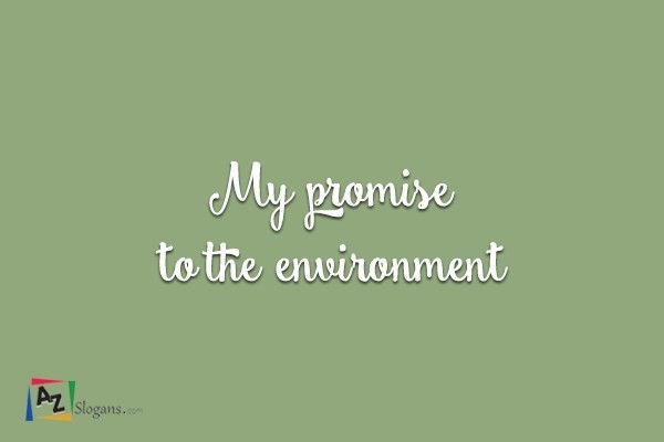 My promise to the environment