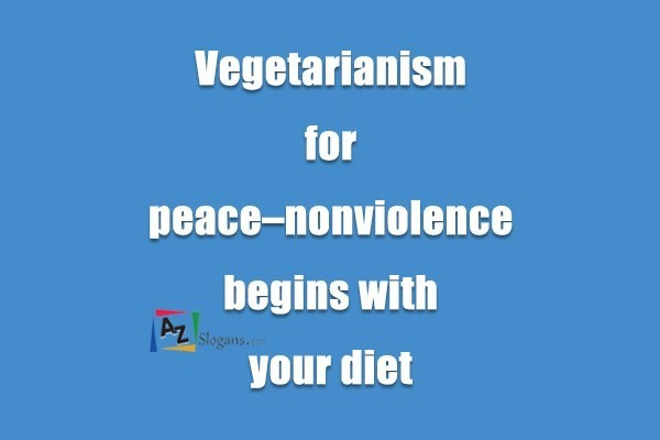 Vegetarianism for peace–nonviolence begins with your diet