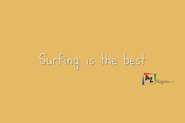 Surfing is the best