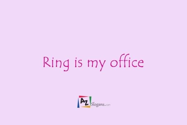 Ring is my office