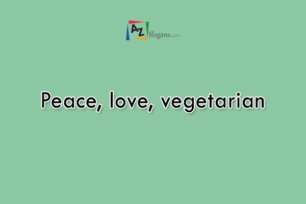 Peace, love, vegetarian