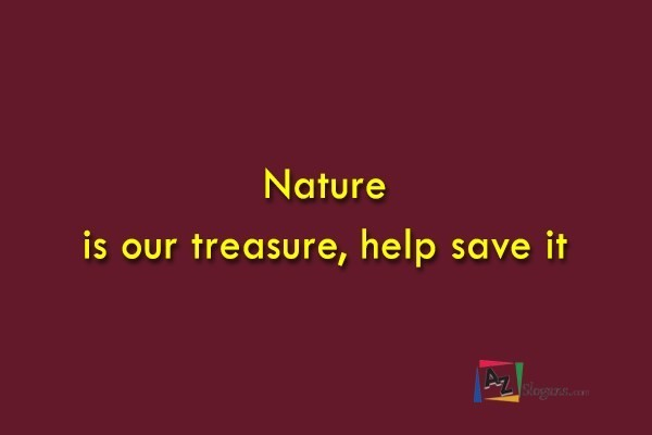Nature is our treasure, help save it