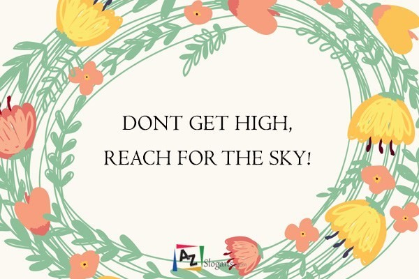 DONT GET HIGH, REACH FOR THE SKY!